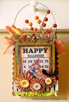 Sizzix: Die Cutting Inspiration and Tips: Die Cutting Paper: Happy Halloween Wall Pocket