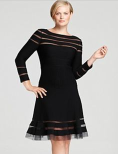 Tadashi Plus Size Cutout Dress