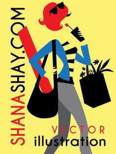 #shanashay #vectorgirl #vectorillustration #yoga #smoothie #citizendiet