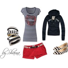 striped weekend fun, created by shauna-rogers on Polyvore