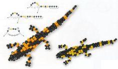 Beaded 3D Lizard PATTERN