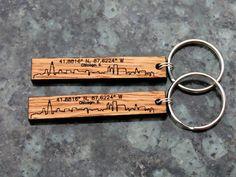 Chicago skyline urban wood keychain by WindyCityHardwoods on Etsy Wooden  Keychain af983158c