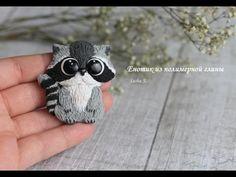 Милый енот из полимерной глины - YouTube