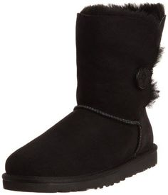 c93de494128 UGG Australia Bailey Button Black Womens Boot 8 Ultra Comfort Stylish Look  Quality Design