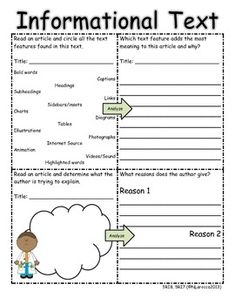 Worksheet Informational Text Worksheets bolsos textos and maestros on pinterest 5th grade common core reading informational text organizers with qr codes