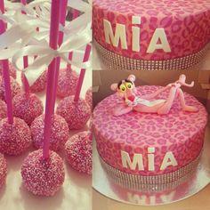 Pink panther cake + chocolate cakepops