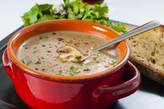 This healthy mushroom soup is full of nutrients and flavor. Perfect meal for a cold night!