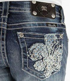 4cda3d7b21c7 MISS ME JEANS Sale New Low Rise Embellished Fleur Bootcut Stretch Jean 26 X  31