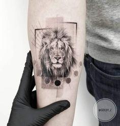 Lion Tattoo by Zlata Kolomoyskaya -