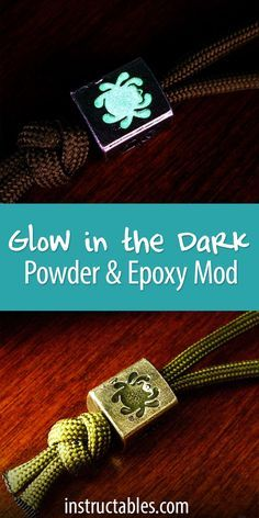 Glow-in-the-dark powder can be found online from eBay or Amazon, and you can do so many cool things with it!