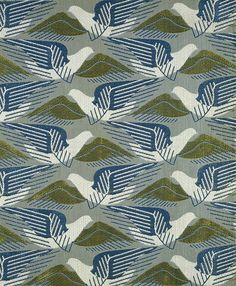 Marin Dorn's 'Avis' (1939), rayon, spun rayon and cotton furnishing fabric (all images are courtesy of the V)