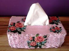 Papierowa wiklina Moniki: Chustecznik Tissue Holders, Facial Tissue