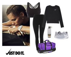 """""""workout"""" by silje-bjorkelid on Polyvore featuring Pepper & Mayne, Topshop, NIKE and Everest"""