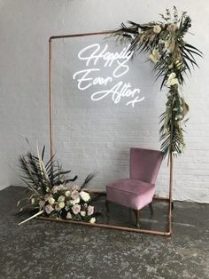 Neon wedding signs are the brightest and boldest wedding . - Neon wedding signs are Wedding Welcome Signs, Wedding Signs, Wedding Table, Wedding Ceremony, Our Wedding, Dream Wedding, Backdrop Wedding, Wedding House, Ceremony Backdrop