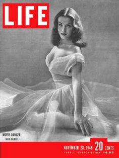 Life Magazine Copyright 1949 Movie Dancer Nita Bieber - www.MadMenArt.com   Life…