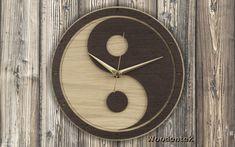 Handmade Yin Yang wooden clock - (Yin and Yang / Yin-Yang). Worldwide Shipping. Available in: www.woodentek.etsy.com .... #Arttherapy #Balance #Chakra #Dharma #Energy #FengShui #GatheringOfMinds #Gifts #GiftsIdeas #Healing #Inspiration #Karma #Meditation #Metaphysical #Namaste #Osho #Peace #Pilates #Reiki #Soul #Spiritual #Taichi #TreeofLife #Vegan #Yang #Yin #YinYang #YinYan #Yoga #Yogi #Zen #WishList