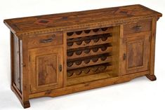 What better way to store your wine collection than in this beautiful reclaimed wood sideboard? Custom sizes are available to suit your spacing needs.
