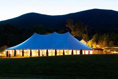 Hildene Estate twilight tent. Vermontfinedining.com