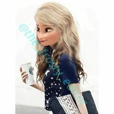 This is Maddie Jr. She is a fellow Starbucks adicct. Comment to adopt ADOPTED Disney Characters Dress Up, Modern Disney Characters, New Disney Princesses, Disney Rapunzel, Cute Disney, Disney Girls, Disney Style, Cute Frozen, Frozen Elsa And Anna