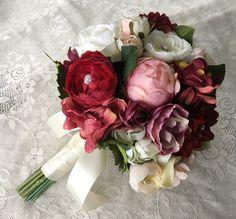Wedding Bouquet Bridal Bouquet Blush & Burgundy Wedding