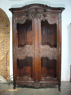 Antique Oak Armoire from Normandy