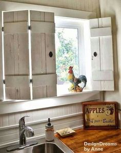 I love these shutters for the kitchen.