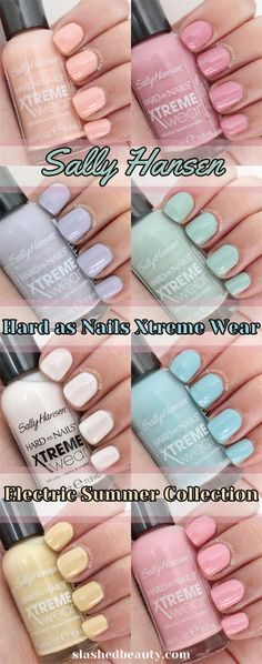 Sally Hansen Electric Summer Collection 2014 | Slashed Beauty
