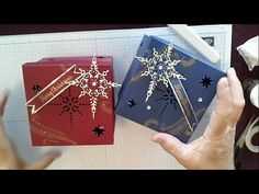 Stampin Up Star Of Light Bundle Gift box Stamping With DonnaG - YouTube