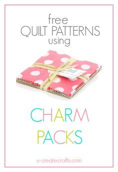 Beautiful free quilt patterns that use charm packs! Pre-cuts make quilting easy!