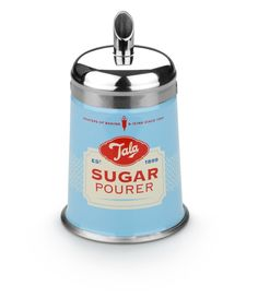 Ideal storage solution for your everyday granulated sugar. Perfect table accessory for guests to add sugar to their tea and coffee. Stainless steel lid. Twist the lid open to refill.