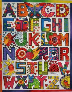 Sketchbook Project 2012 inspiration...lovely, colorful, unique lettering......Laurel Burch