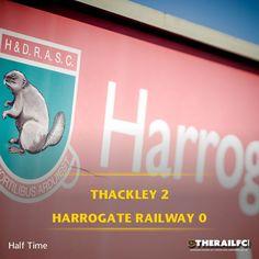 Half time: Thackley 2-0 Harrogate Railway    @therailfc @ThackleyAFC @Howell_rm