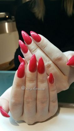 Juicy Strawberry #nails #gelnails #rednails #stiletto