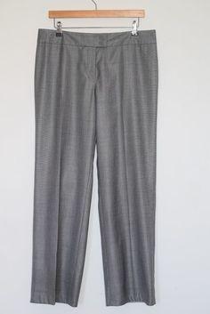 ESCADA Elegant Gray Wool & Silk Dress Pants Trousers Size 40 EUR #ESCADA #DressPants