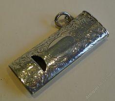 c49aeddfd593 Antique English Novelty Silver Whistle Vesta. Smoking AccessoriesCigarette  CaseAntique ...