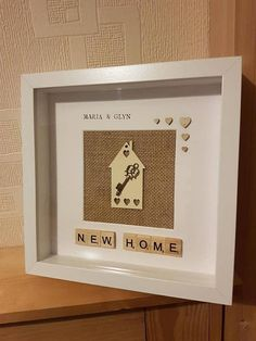 Check out this item in my Etsy shop https://www.etsy.com/uk/listing/571598680/personalised-new-home-frame-new-home-new