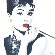 Audrey Hepburn Art Print by Bob Celic at Art.com