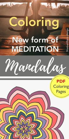 Detailed COLORING pages for grown ups   Printable MANDALA coloring book for adults on Etsy   Pdf #ShShPrintables