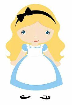 Alice in Wonderland Disney Clipart, Cute Clipart, Alice In Wonderland Doll, First Birthday Party Themes, Disney Cats, Cartoon Clip, Silhouette Clip Art, Princesas Disney, Conte