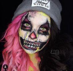 Super creepy clown makeup