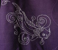 Sashiko jacket - front detail