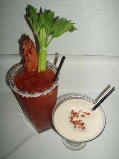 Need to get rid of the bottle of Bakon Vodka. This appears to be the best bacon vodka recipe with a bloody mary recipe as well as a chocolate bacon martini recipe think I have a unique brunch cocktail! Vodka Recipes, Martini Recipes, Bacon Recipes, Margarita Recipes, Drink Recipes, Vodka Drinks, Yummy Drinks, Beverages, Party Drinks