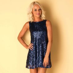 1828273f17bc22 Buy Womens Sequin Skater Dress from ClubL at Get The Label for Shop Women s  clothes and footwear from big brands at amazing discounted prices at Get  The ...