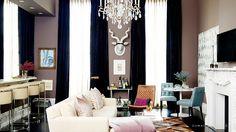 Interiors. Fashion. Modern. Glamour. Living Room + Bar Take 2