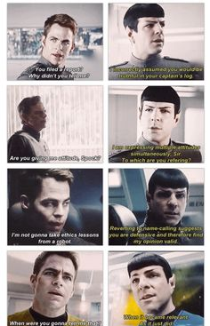 I love Spock! (Isn't sass an emotional response?)