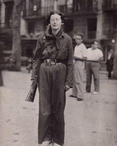 Simone Weil en la Guerra Civil de España. Año 1936.