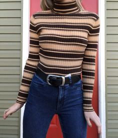 striped shirt   how to style large belt   everyday outfit   casual outfit   ootd   outfit of the day   fashion
