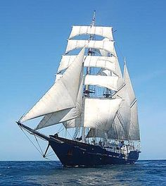 1997 Custom Three-Masted Square-Rigged Barquentine Tall Ship Power Boat For Sale -
