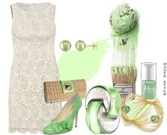 Pistachio green ensemble