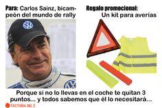 ¿Qué le regalarías al piloto Carlos Sainz?